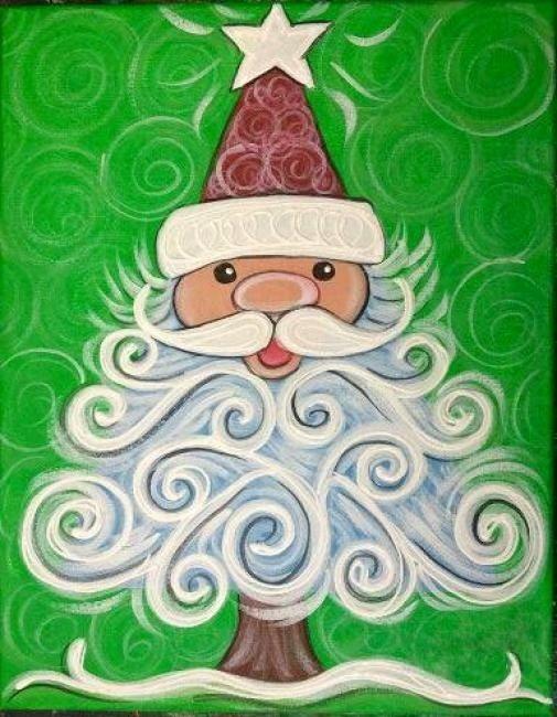 Best 25+ Santa paintings ideas on Pinterest | Christmas canvas ...
