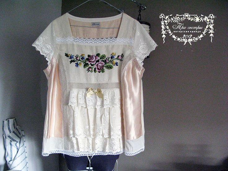 """Купить Блуза """"Золотой век"""" - золотистый, золотой век, блуза, романтический стиль, винтажный стиль"""
