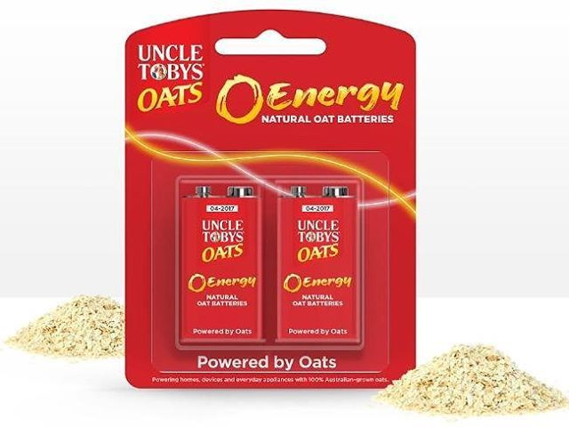 """Uncle Tobys #AprilFoolsDay effort, """"O Energy"""", is clever! They claim to be launching the world's first oats powered batteries. . #marketing #advertising #uncletobys #beliefmedia #oats #viralnetics http://fat.ly/3scii (Instagram Image from @beliefmedia, 1s"""