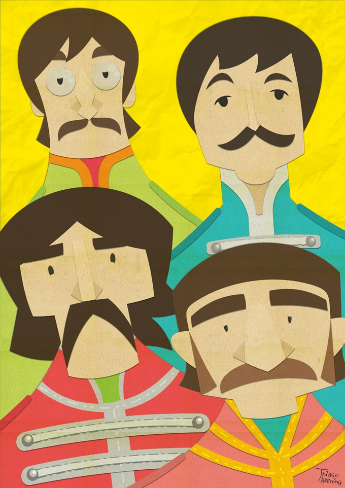 Paper Beatles, by Thiago Krening