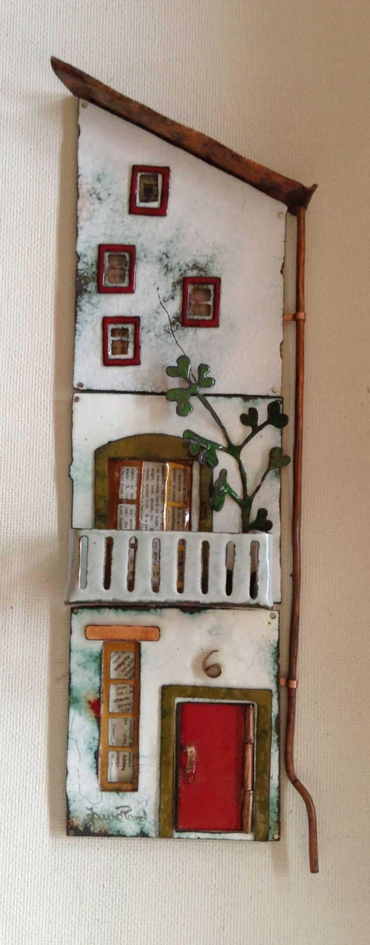 Vitreous enamel on copper. 33 x 9 cm. Janne Pond. Facebook: My Secret Pond. Spanish art concentration idea