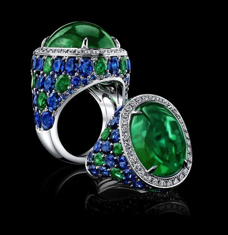 Emerald and sapphire ringgeneva@robertprocop.com