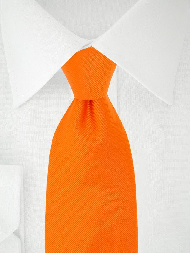Orange Clipkrawatte