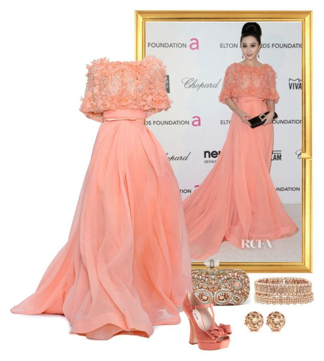 """""""Fan Bingbing – 2013 Elton John AIDS Foundation Oscars Party."""" by foreverforbiddenromancefashion ❤ liked on Polyvore featuring Elie Saab, Marchesa, Miu Miu, Philippe Audibert, Juicy Couture, women's clothing, women, female, woman and misses"""