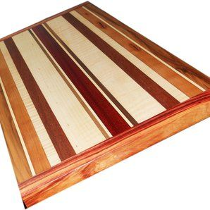 sweetlooking unique cutting boards. unique wood clock  Cutting Board Two Sided W Breadboard Ends by Patrick Joyce 8 best Stain Options images on Pinterest Flooring ideas