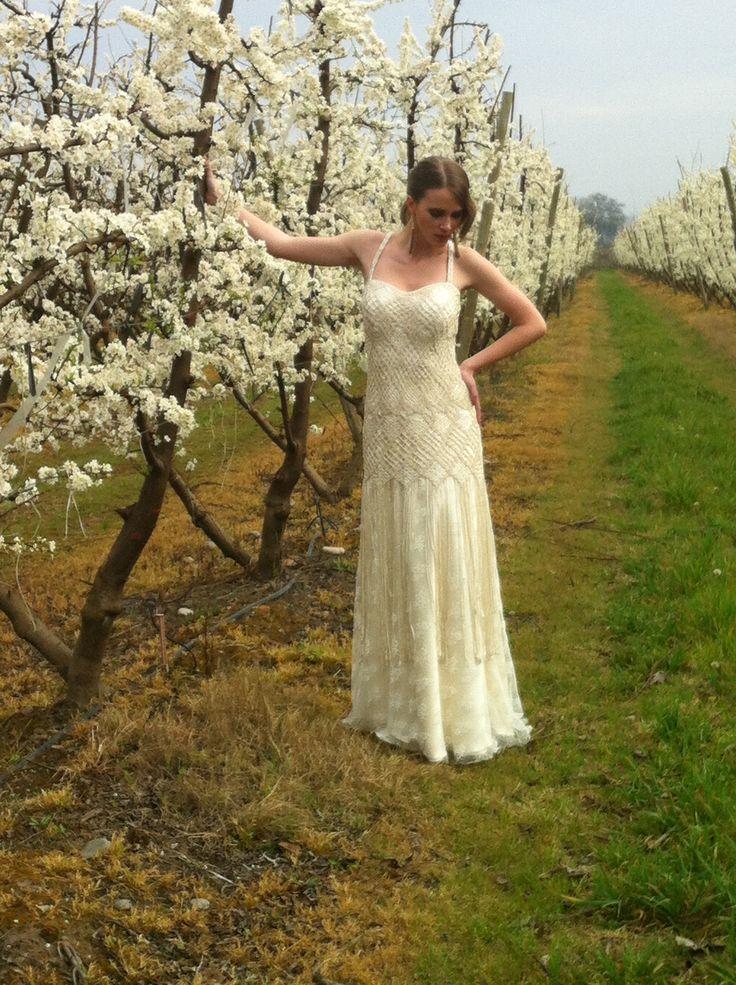 Vestido de novia Nini Huidobro Vestido en macramé y encaje