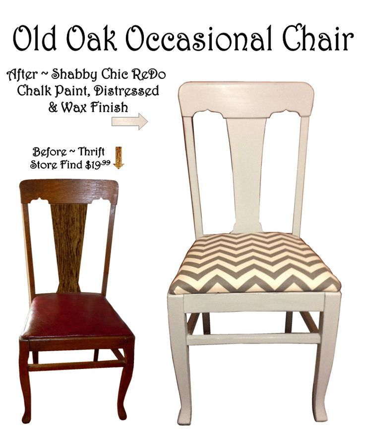Old Murphy A Tiger Oak Chair ReDo Refinished W Homemade Chalk Paint Distressed