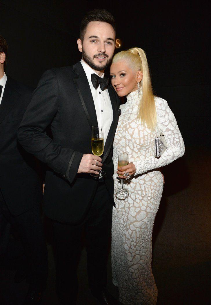 Pin for Later: Les Stars se Sont Laissé Aller à la Soirée Vanity Fair Christina Aguilera et Matthew Rutler