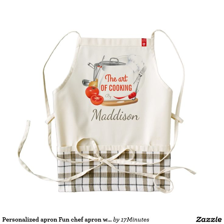 Personalized apron Fun chef apron with your name