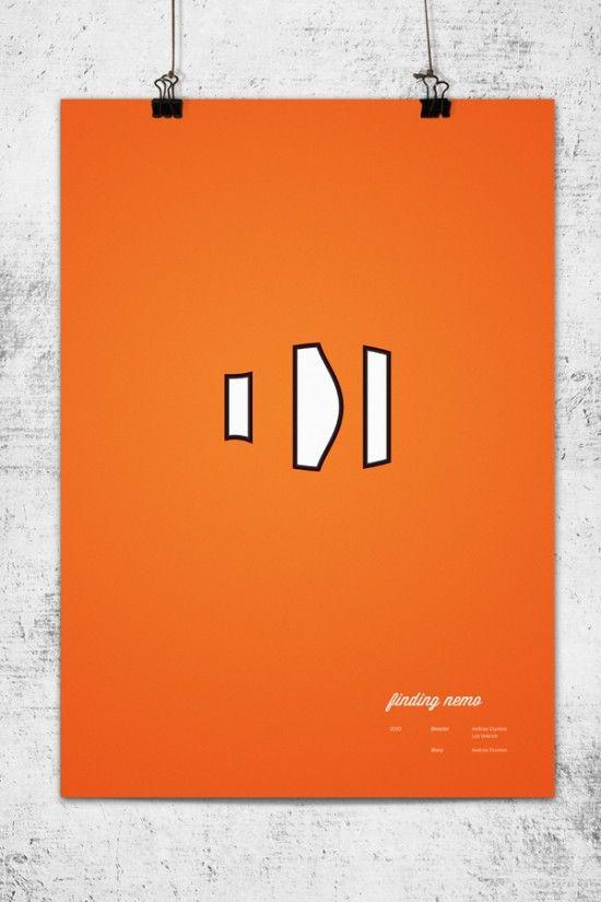 Minimalistic Pixar Poster Series - Finding Nemo: Minimalist Posters, Graphic Design, Movie Posters, Findingnemo, Minimalist Pixar, Disney, Wonchan Lee, Finding Nemo