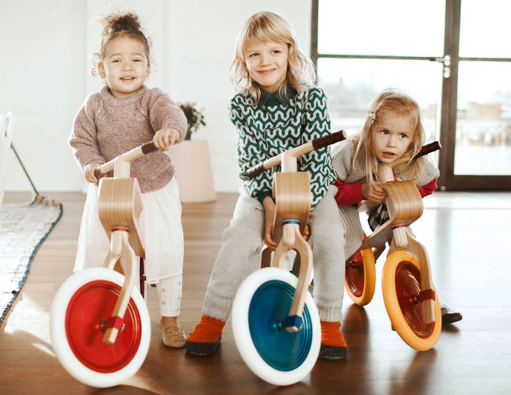 Best friends discover the world together on their Brum Brum balance bikes