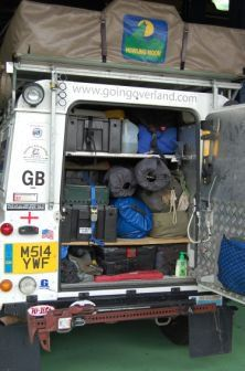 Defender packing job - Basically three tiers.