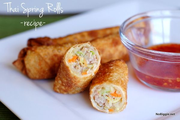 Thai spring rolls - Learn how to make Thai Spring Rolls at home. They are so delicious!