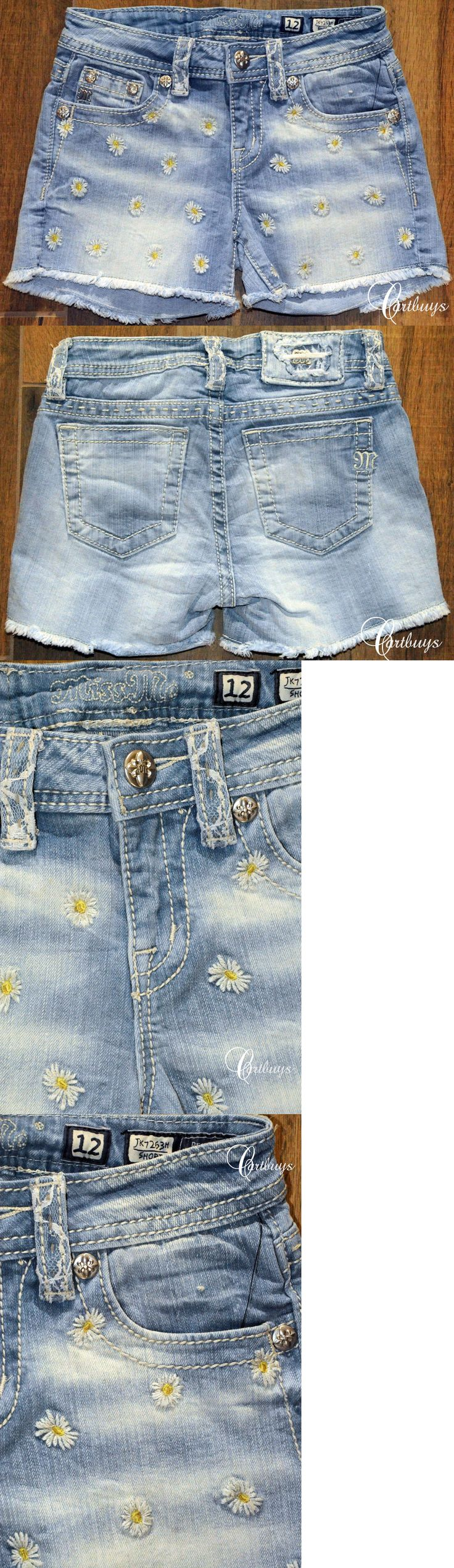 Shorts 15648: New Girls Miss Me Jeans Daisy And Lace Short Jk7263h Size 7, 12 Msrp $74 -> BUY IT NOW ONLY: $44.99 on eBay!