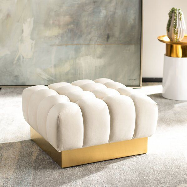 Strange Everly Quinn Simonton Square Tufted Ottoman Wayfair Andrewgaddart Wooden Chair Designs For Living Room Andrewgaddartcom