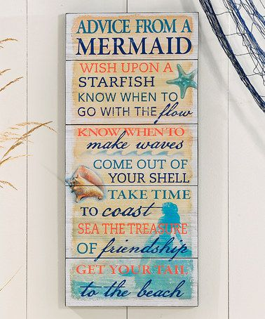 Look at this #zulilyfind! 'Advice from a Mermaid' Wall Plaque #zulilyfinds