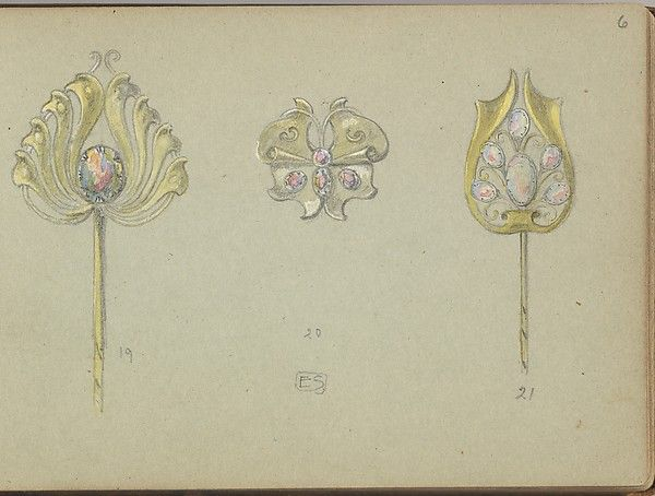 Designs for Two Gold Stickpins and a Seperate Ornament