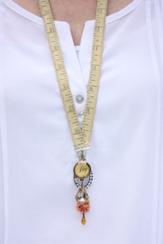 Measuring Tape Necklace - TLC Craft War. Maybe a lanyard for school.
