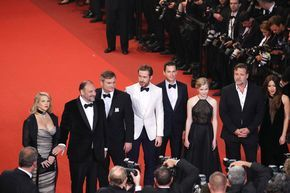 """Ryan Gosling Photos - Producer Joel Silver, Shane Black, actors Ryan Gosling, Matt Bomer, Angourie Rice, Russel Crowe and Murielle Telio attend """"The Nice Guys"""" premiere during the 69th annual Cannes Film Festival at the Palais des Festivals on May 15, 2016 in Cannes, France. - 'The Nice Guys' - Red Carpet Arrivals - The 69th Annual Cannes Film Festival"""
