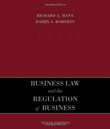 20 best law government books wenzel thrifty nickel ecrater store im selling business law and the regulation of business by richard a mann fandeluxe Image collections
