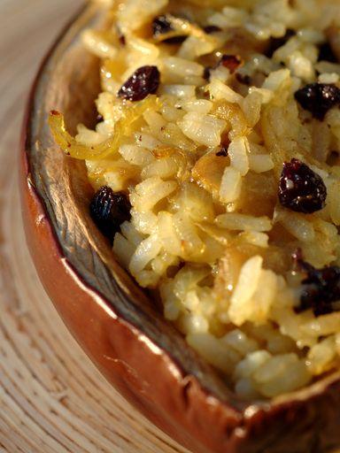 Recette d'Aubergines farcies au riz à l'orientale