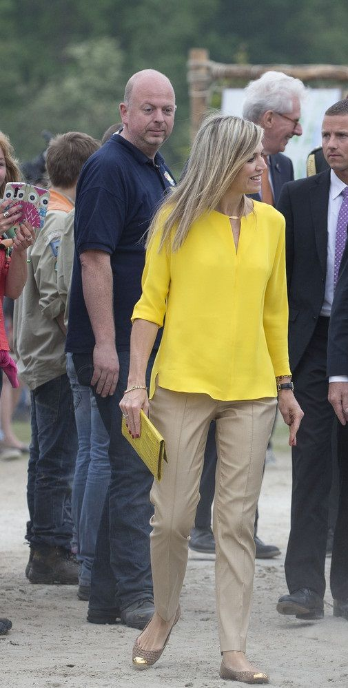 Queen Maxima - Opening of Scounting Estate, ZeeWolde, June 2015
