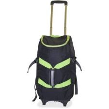 """Dbest Carrying Case (Rolling Backpack) for 17"""" Notebook - Green, Black, Oversized capacity to fit more than a standard backpack. High-quality nylon for great breathability and ultra-lightweight. 4-in-1 utilities; backpack, rolling backpack, duffle bag, and lightweight dolly. 