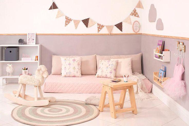 O quarto montessoriano estimula os sentidos da criança e dá independência aos pequenos desde cedo.