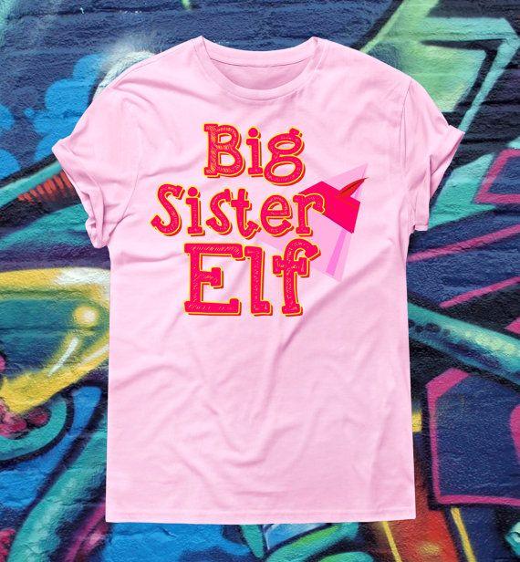 Big Sister Elf Christmas Shirt T-Shirt Elf by kitschklothing