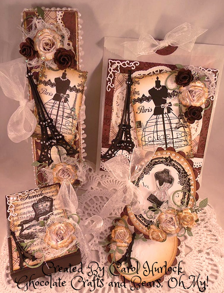 Chocolate Crafts and Bears, Oh My!: Paris Bracelet Box and Dangle Swap