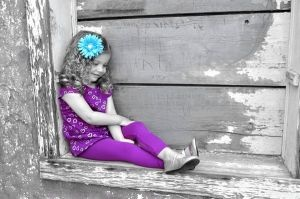 Such a Lady - Black and White with Color, Children's Photography Ideas, Creative Images