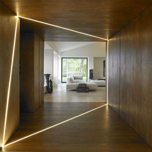 pasillos con luces led