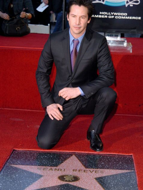 2005 Keanu Reeves Star on the Hollywood Walk of Fame - YouTube