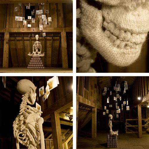 Ben Cuevas' Knitted Skeleton August 2011