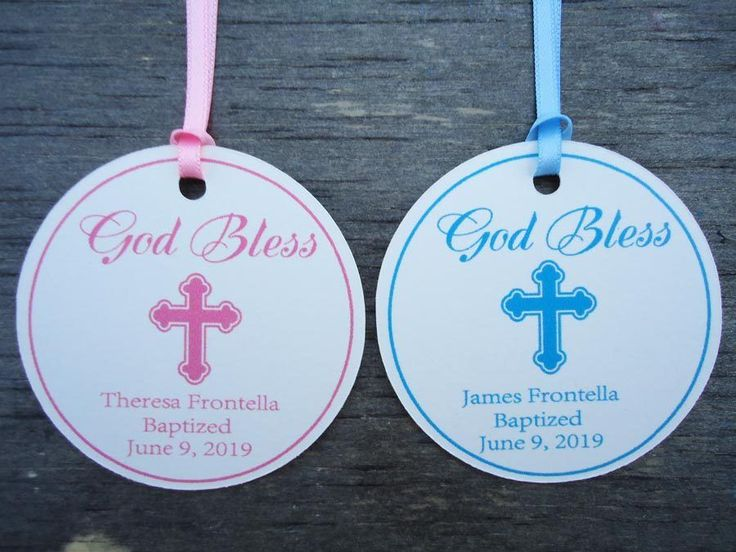 10 Kraft Ivory Gift Tags Christening Baptism Favour Bomboniere Personalised R8