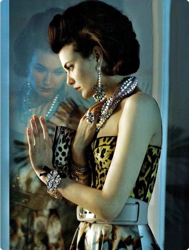 Shalom Harlow by Javier Valhonrat for Vogue UK, June 2010