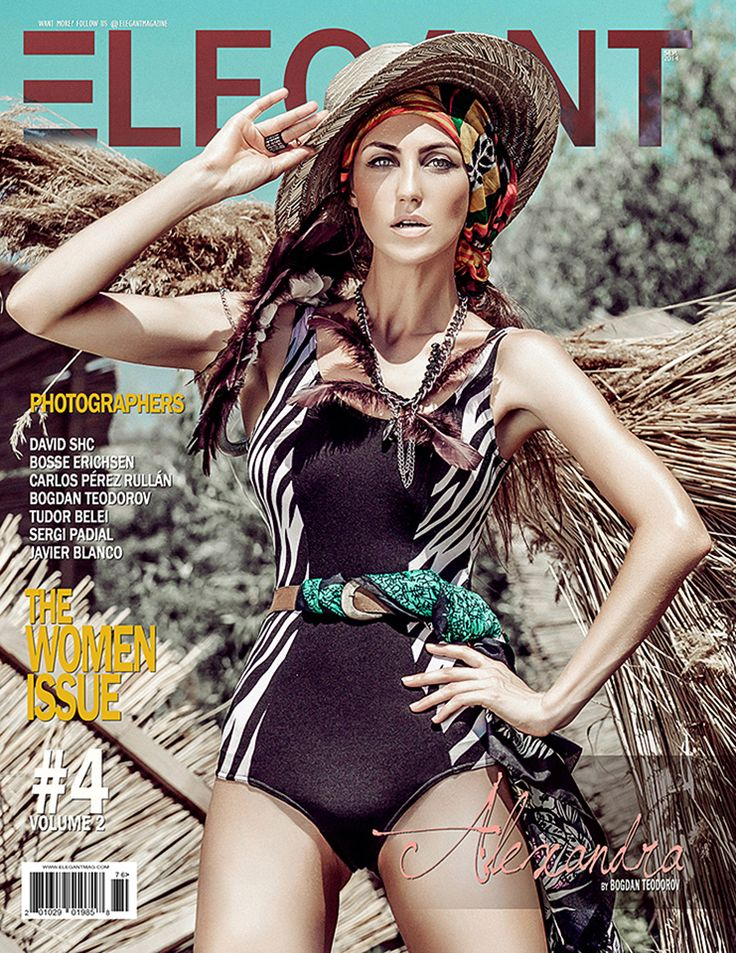 Elegant Magazine cover and editorial by Bogdan Teodorov www.bogdanteodorov.com The end of the beach  Fashion Stylist: Ecaterina Colasiz Model: Alexandra Carp - Max1 Models  Romanian fashion photographer