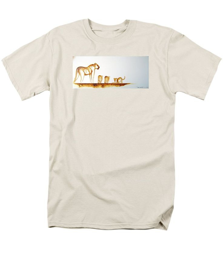 Lioness and Cubs Small T-Shirt by Tracey Armstrong