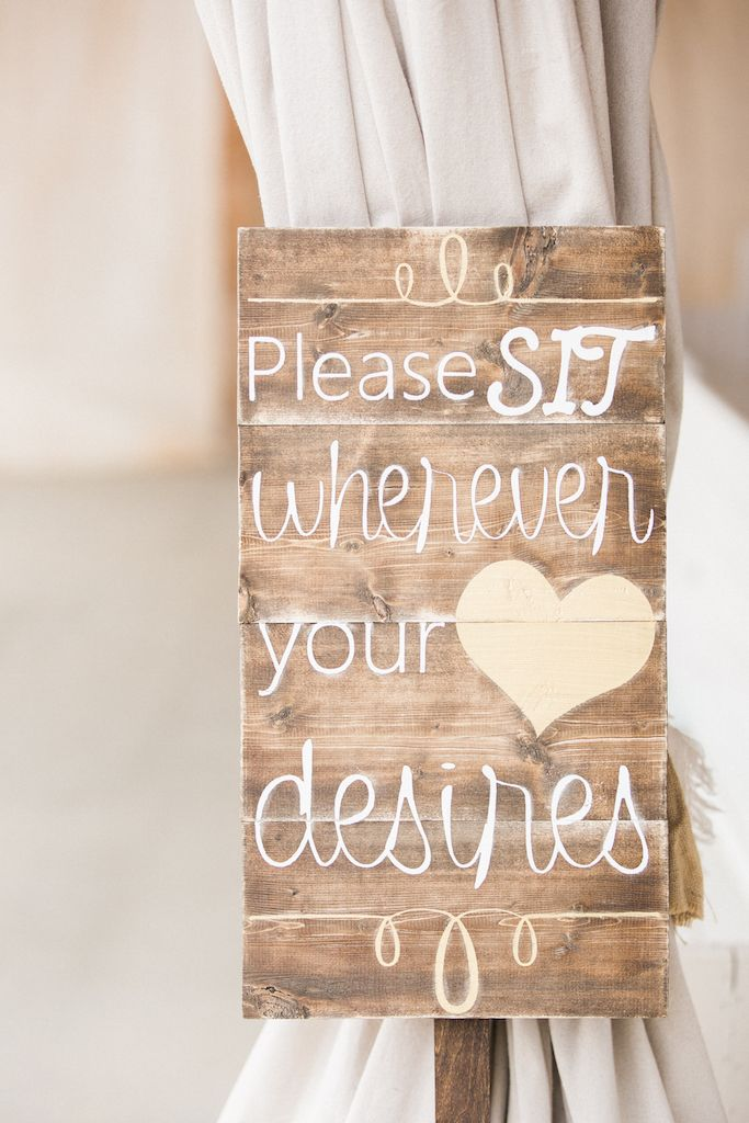 Wedding Ceremony Seating Sign - An Intimate Wedding Full of Rustic Vintage Elegance