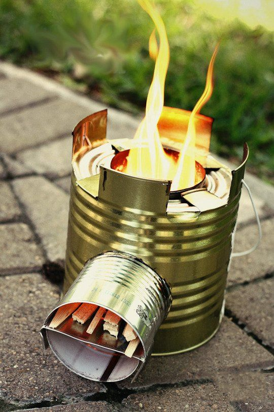The MacGyver Mindset:  Outdoor Tips, Tricks & DIYs Reminds me of the old tuna can fire & all the other creative Girl Scout things we used to do.