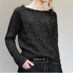 This is a printed pattern that requires shipping. A cropped hem, wide neck, and extra long sleeves makes this pullover the very image of modern fashion. A lightweight silk tweed blends with a lace-wei