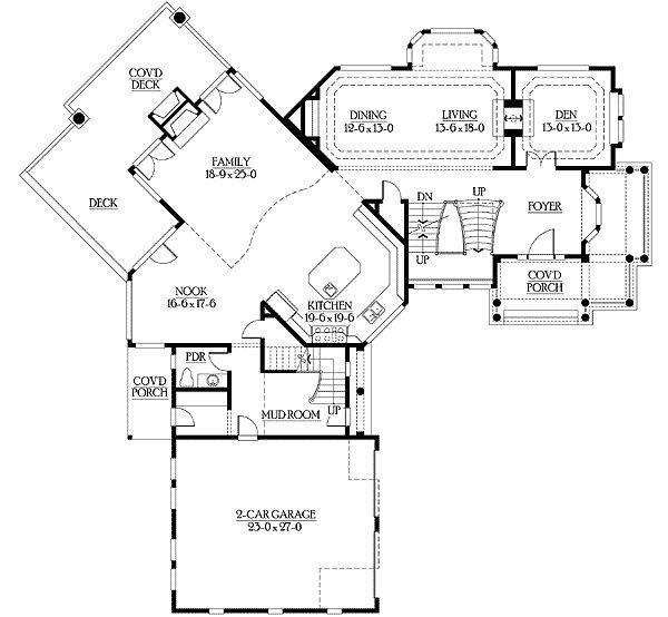 28 best floor plans images on pinterest house floor for Unique craftsman house plans