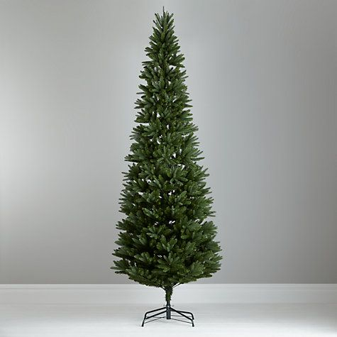 Buy John Lewis Aspen Slim Christmas Tree, Green, 10ft ...