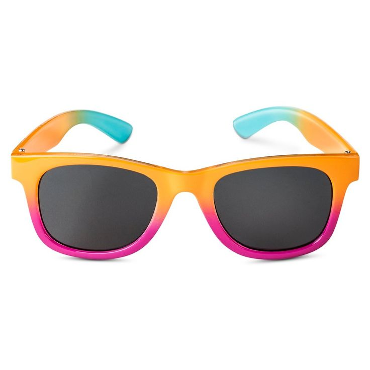 Girls' Tie Dye Rectangle Sunglasses - Multi-Colored, Girl's