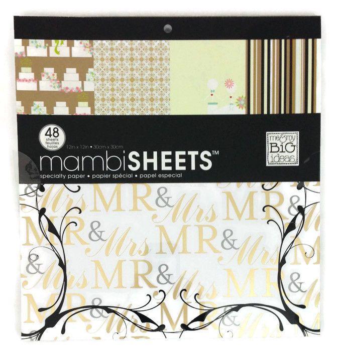 "MAMBI Wedding Specialty Paper Pad #PXT-04 12""x12"" Mr. & Mrs. Bride Groom Cake  | eBay"