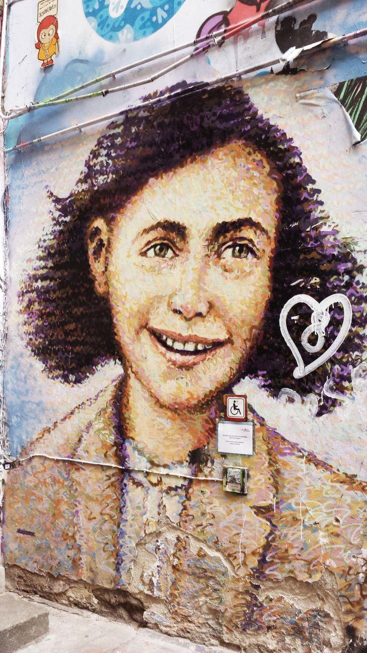Anne Frank street art, Berlin. | Street art, Street ...