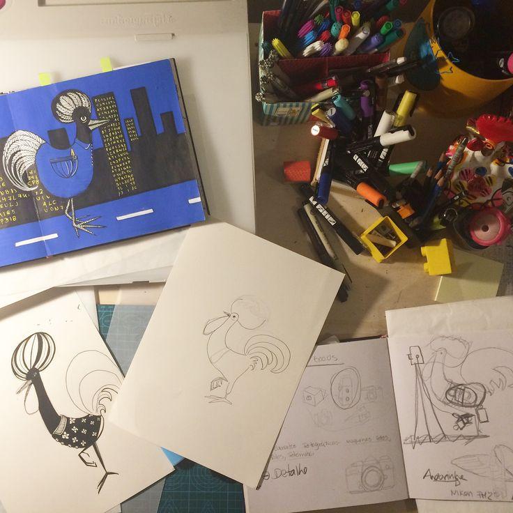 "Drawing the portuguese ""Galo de Barcelos"""
