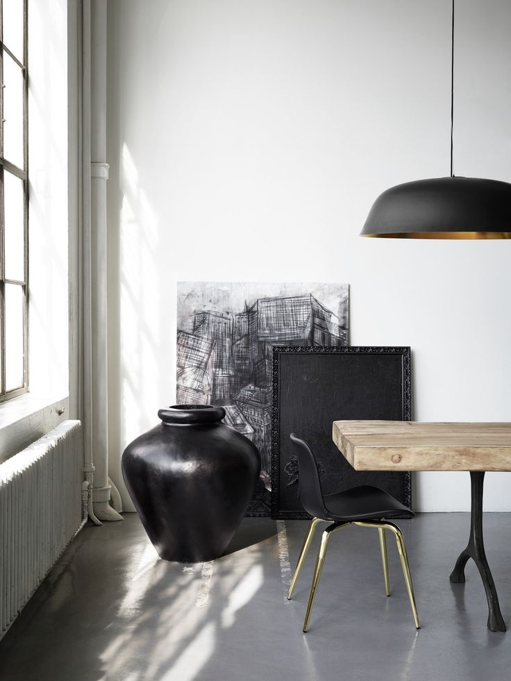 dining table and light