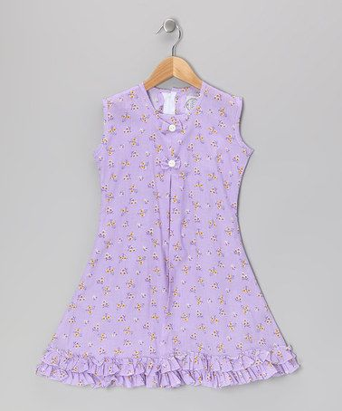 Take a look at this Purple Butterfly & Bow Ruffle Sundress - Infant, Toddler & Girls by Vintage Circus on #zulily today!