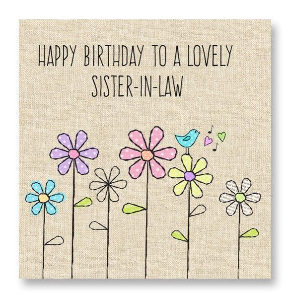 Lovely Sister-In-Law Birthday Card - product image